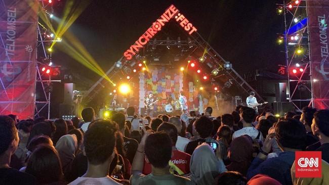 Synchronize Festival 2019 masih berlangsung sampai Minggu (6/10) di JIExpo Kemayoran. (CNN Indonesia/Agniya Khoiri)