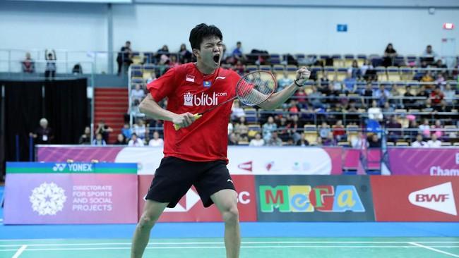 Bobby Setiabudisempat mendapat empat championship point di gim ketiga ketika menghadapi Liu Liang.(dok. PBSI)