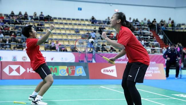 Namun Febriana/Putri akhirnya menutup pertandingan dengan kemenangan 16-21, 25-23, 21-13. Indonesia menang 3-1 atas China. (dok.PBSI)