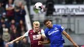 Burnley berhasil mengalahkan Everton dengan skor tipis 1-0 lewat gol Jeff Hendrick. (Anthony Devlin/PA via AP)
