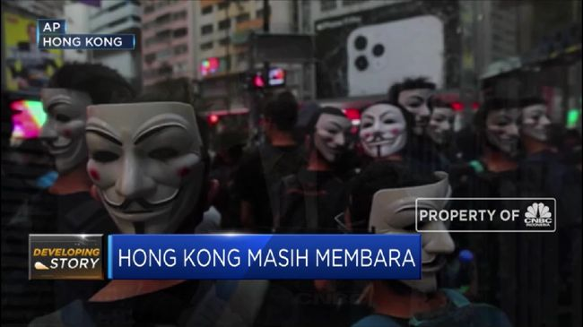Polisi Hong Kong Tangkap Pendemo Bertopeng