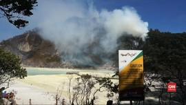 VIDEO: Kebakaran Lahan, Kawah Putih Tutup Sementara