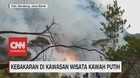 VIDEO: Kebakaran di Kawasan Wisata Kawah Putih
