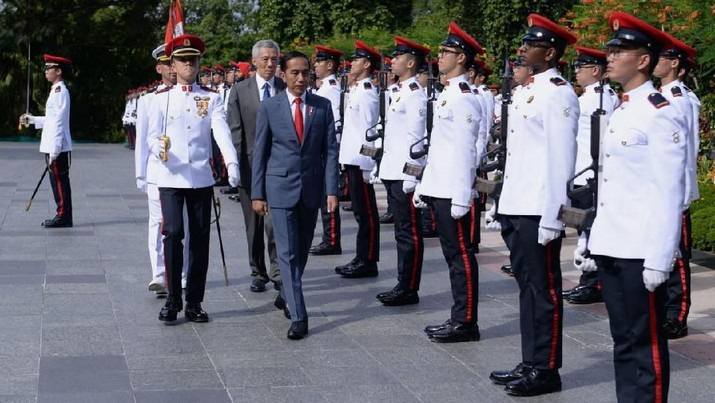 Penampakan Lawatan Jokowi ke Singapura