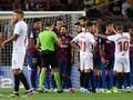 Viral Aksi Messi Cegah Dembele Dikartu Merah Lawan Sevilla