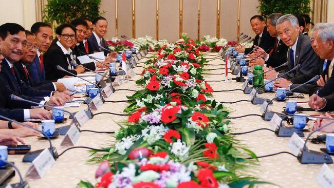 Jokowi Tawarkan Proyek dan Kerja Sama Keuangan ke Singapura