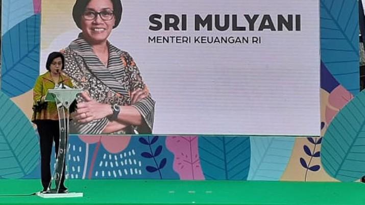 Menteri Keuangan Sri Mulyani Indrawati (CNBC INdonesia/Lidya Kembaren)