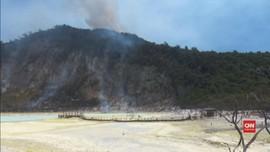 VIDEO: Kebakaran Hutan di Kawah Putih Bandung Terus Meluas
