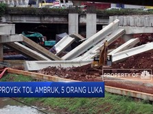 Proyek Tol Desari Ambruk, 5 Pekerja Terluka