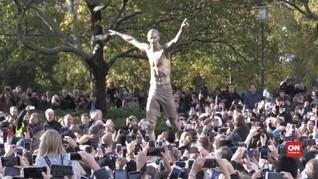 VIDEO: Simbol Perjuangan Patung Ibrahimovic di Swedia
