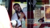 Insiden itu terjadi di tengah-tengah peringatan Hari Penebusan (Yom Kippur) yang dilakukan etnis Yahudi setempat. (AP Photo Jens Meyer)