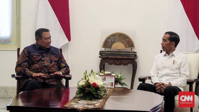 Jokowi dan SBY Bertemu Empat Mata di Istana Merdeka
