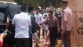 Menko Polhukam Wiranto diserang orang tak dikenal dalam kunjungannya di Pandeglang, Banten, Kamis (10/10). (ANTARA FOTO/Dok Polres Pandeglang)
