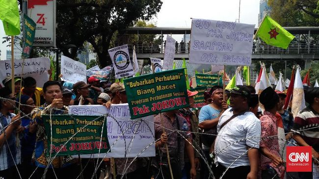 Petani Ancam Menginap Jika Jokowi Tak Dengar Tuntutan