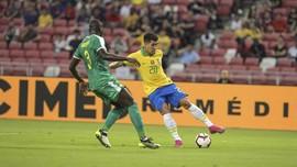 Brasil vs Senegal Berakhir Sama Kuat di Singapura