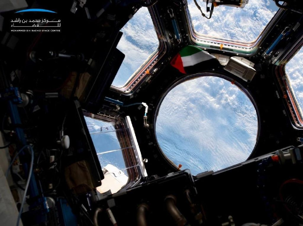 Ini salah satu pemandangan Bumi yang ia bagikan di Twitter dari ISS. Foto: Hazza Al Mansouri