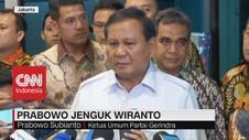 VIDEO: Jenguk Wiranto, Prabowo: Kekerasan Bukan Budaya Kita