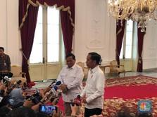 Usai Temui Jokowi, Prabowo: Di Indonesia Tidak Ada Oposisi