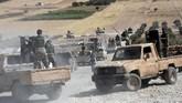 Erdogan menyebut operasi itu bakal diperluas mencakup wilayah dari Manbij hingga perbatasan Irak. (DHA via AP)
