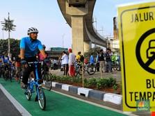 Bareng Artis, Anies Jajal Jalur Sepeda Sudirman-Fatmawati