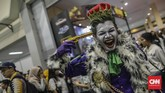 Suasana perhelatan Indonesia Comic Con 2019 di Jakarta Convention Center (JCC), Senayan, Jakarta, Sabtu, 12 Oktober 2019. Tiket gelaran Indonesia Comic Con 2019 dijual mulai Rp100 ribu hingga Rp250 ribu. (CNN Indonesia/Bisma Septalisma)