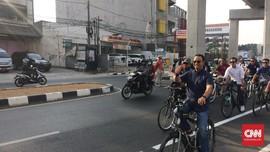 Jalur Sepeda Sudirman-Fatmawati Diuji Coba Hari Ini
