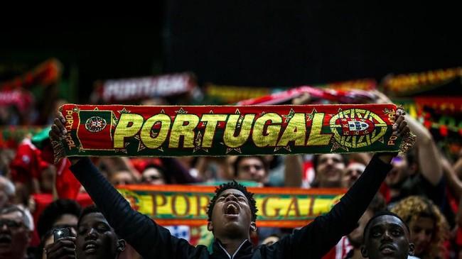Portugal berhasil menang 3-0 atas Luksemburg di laga tersebut. Gol ketiga Portugal dicetak oleh Goncalo Guedes.(Photo by CARLOS COSTA / AFP)