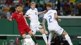 Portugal menjamu Luksemburg dalam kualifikasi Piala Eropa 2020 di Stadion Jose Alvalade di Lisbon, Jumat (11/10) waktu setempat. (AP Photo/Armando Franca)