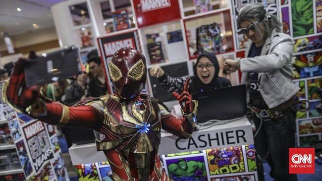 Indonesia Comic Con 2019 tidak hanya akan memanjakan generasi milenial, tapi juga mengajak generasi 90an untuk bernostalgia di ajang ini. (CNN Indonesia/Bisma Septalisma)