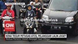 VIDEO: Kena Tegur Petugas ATCS, Pelanggar Lalin Joget