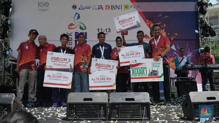 BNI menjadi sponsor utama perhelatan BNI ITB Ultra Marathon 2019 di Bandung, Jawa Barat, Minggu (13/10/2019).