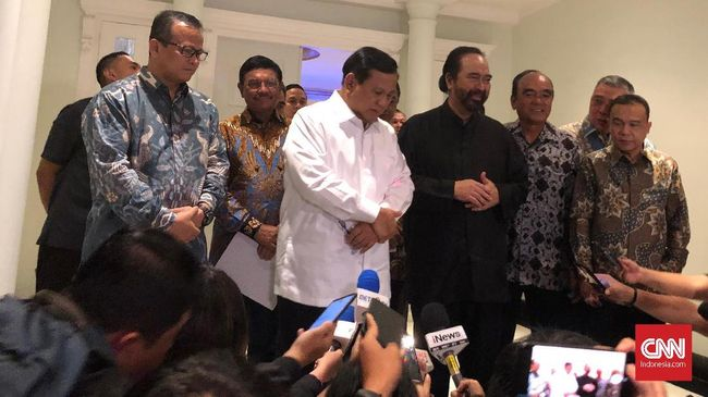 Temui Ketum Parpol, Prabowo Diklaim Pasif soal Jatah Menteri