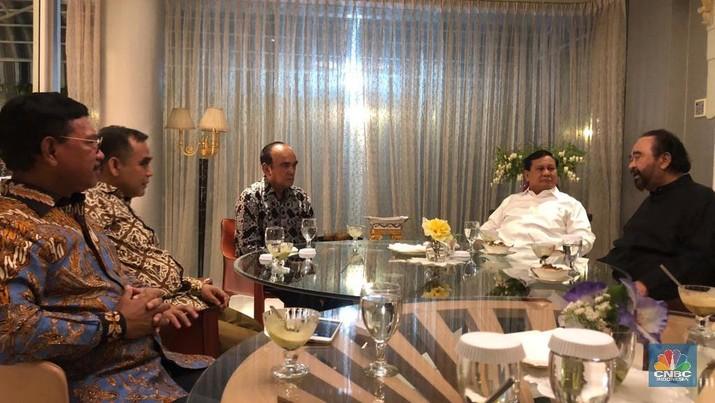 Tak ada Soal Koalisi, Prabowo dan Surya Paloh Sepakati 3 Hal