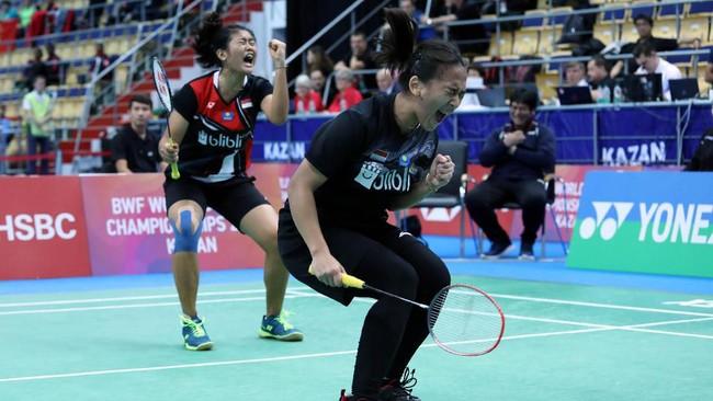 FOTO: Tiga Ganda Junior Indonesia ke Final Kejuaraan Dunia