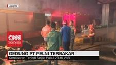 VIDEO: Kebakaran Landa Area Parkir Gedung Pelni
