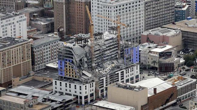 Konstruksi Bangunan Hard Rock Hotel Roboh, 1 Orang Tewas
