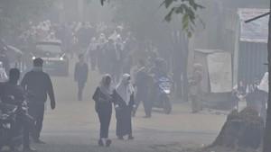 FOTO : Kabut Asap Pekat Karhutla Palembang