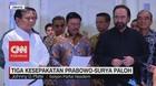 VIDEO: Tiga Kesepakatan Pertemuan Prabowo dan Surya Paloh