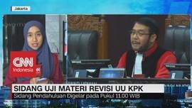 VIDEO: Sidang Perdana Uji Materi Revisi UU KPK
