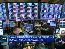 Perang Dagang Reda, Bursa Wall Street Terangkat