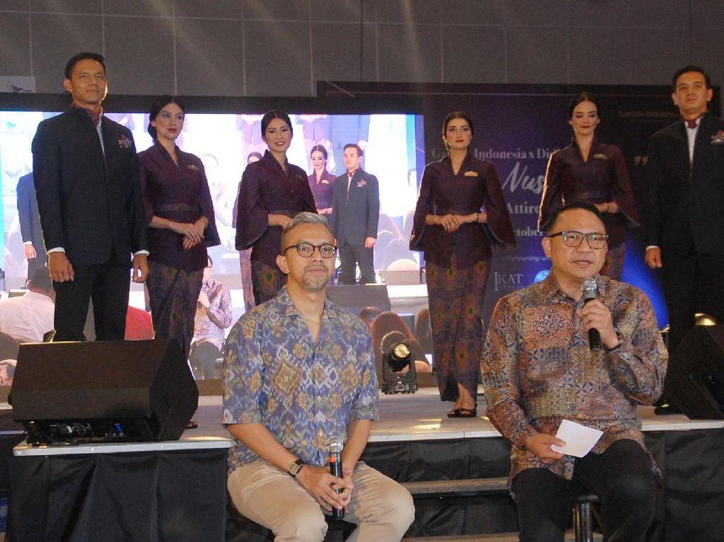 Peluncuran seragam tematik ini merupakan wujud komitmen berkelanjutan Garuda Indonesia dalam memperkenalkan pesona keragaman budaya Indonesia sekaligus mempromosikan keindahan kain tenun sebagai salah satu kekayaan budaya khas nusantara.
