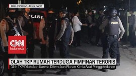 VIDEO: Polisi Olah TKP Rumah Terduga Pimpinan Teroris