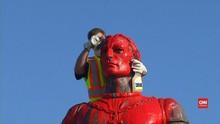 VIDEO: Patung Christopher Columbus Dirusak