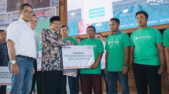BNI melaksanakan Program Mencetak 1.000 Agripreneur, yang diawali dari Tuban, Jawa Timur.