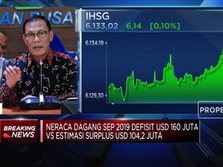 Neraca Perdagangan September Defisit USD 160 Juta