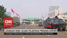 VIDEO: Larangan Demo Jelang Pelantikan Presiden dan Wapres