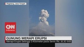 VIDEO: Gunung Merapi Erupsi Setinggi 3 Kilometer