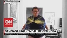 VIDEO: Sandiaga Uno Kembali ke Gerindra