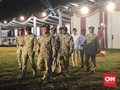 Tutup Rakornas, Prabowo Didampingi Sandi Pakai Seragam Loreng