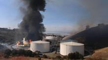 Depo Minyak di California Terbakar, Penduduk Diminta Waspada